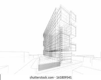 abstract architecture buildings