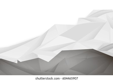Abstract Architecture Geometric Gray Black Background Polygonal Relief Design