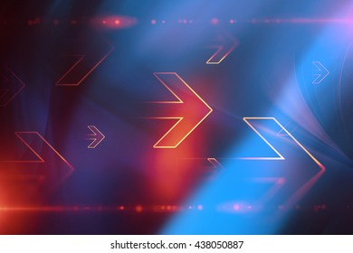 Abstract arrows technology background