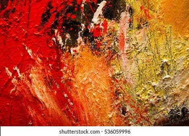 Abstract art background. Oil painting on canvas. Hand-painted. Contemporary art. Fragment of artwork