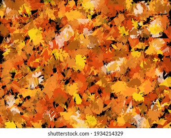 abstract and art Brown leafs background
