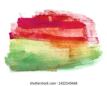 Abstract art of colorful bright ink and watercolor textures on white paper background. Paint leaks and ombre effects art work. Background abstract concept.