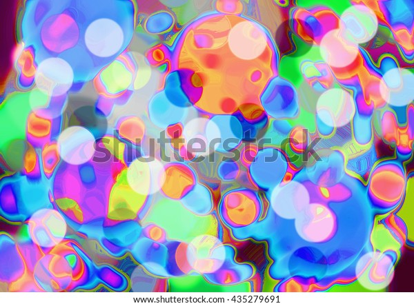 Abstract Art Colourful Wink Bokeh Vivid Stock Illustration