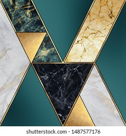 abstract art deco background, modern mosaic inlay, creative texture of marble, green and gold, artistic painted marbling, artificial stone, marbled tile surface, minimal fashion marbling illustration
