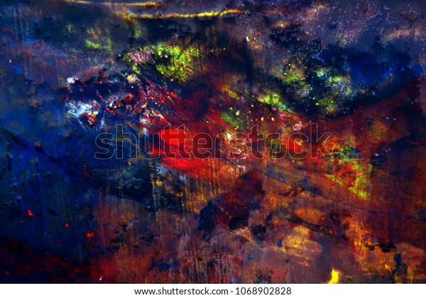 Abstract Art Galaxy Background Painting Perfect Stock