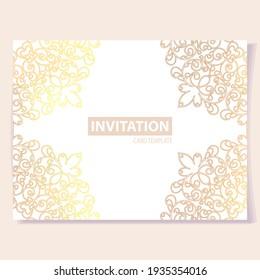 Abstract art ornate invitation card