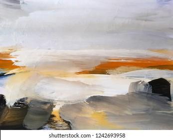 Abstract Art Painting background. Modern art. Contemporary art.