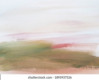 Abstract art painting landscape. Modern art background. Spring Emotions.