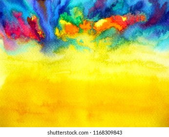 abstract art watercolor painting illustration design background hand drawing