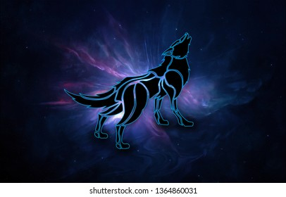 Royalty Free Galaxy Wolf Stock Images Photos Vectors - pictures of wolves with a galaxy background