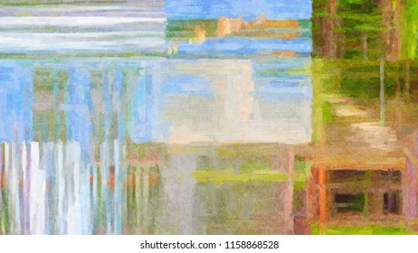 Abstract artistic background in oil paints. Digital structure of painting