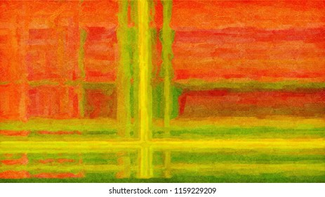Abstract artistic background in oil paints with scratches. Digital structure of painting