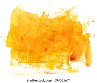 An abstract artistic bright yellow watercolor background texture