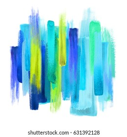 abstract artistic brush strokes, turquoise blue yellow palette, blend, smear, neon color swatches, grunge art, isolated design elements, vivid colors, creative background