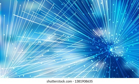 Abstract Asymmetric Random Lines Blue Background