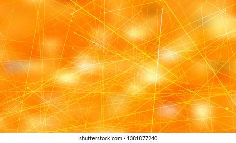 Abstract Asymmetric Random Lines Orange Background Illustration
