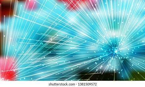 Abstract Asymmetric Random Lines Pink and Blue Background