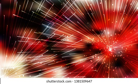 Abstract Asymmetric Random Lines Red and Black Background Illustration