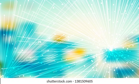 Abstract Asymmetric Random Lines Turquoise and White Background Image