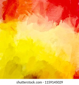 Abstract autumn art background. Digital painting. Color texture. Fragment of artwork. Spots of oil paint. Brushstrokes of paint. Modern art. Contemporary art. Colorful canvas