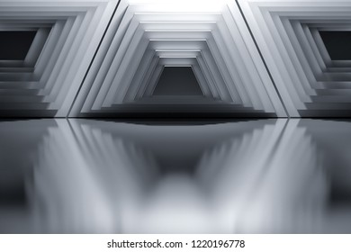 Abstract background with architectural geometric 	
