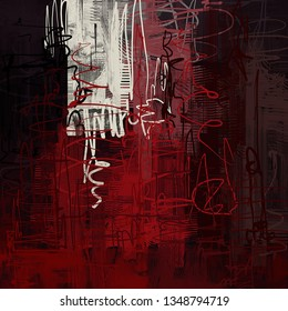 Abstract background art. 2d illustration image. Expressive handmade oil paint. Brushstrokes on canvas. Modern art. Multi color backdrop. Contemporary. Colorful digital backdrop.