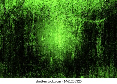 Abstract background art template for design.Dirty green and black texture. Toxic, nuclear, ufo, futuristic background, sci fi green texture background, particle color anomaly.