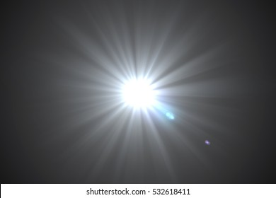 Abstract background, Beautiful rays of light.digital lens flare in black background.
