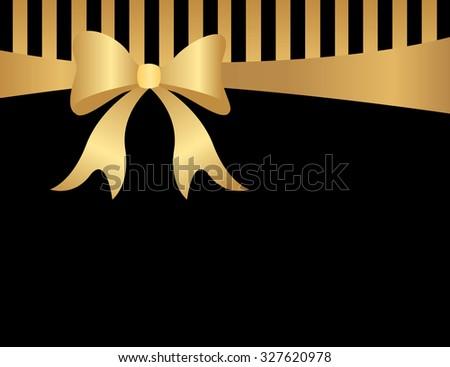 abstract background black goldstripes gold ribbon stock illustration