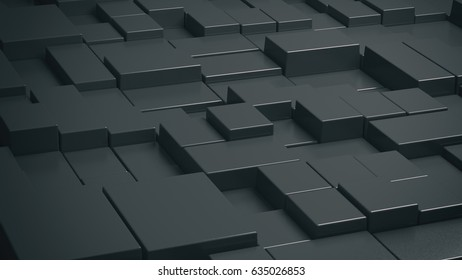 Abstract Background blackbox 3D rendering 3D illustration