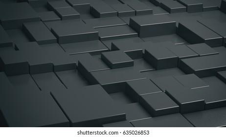 Abstract Background blackbox 3D rendering 3D illustration
