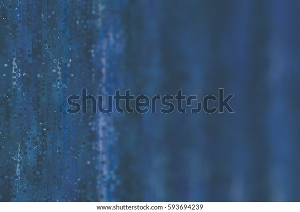 abstract background blue bokeh circles with stars. illustration beautiful.