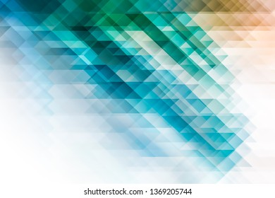 abstract background with blue and green geometric shapes