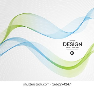 Abstract background, blue green wavy