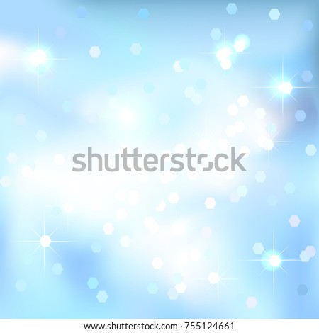 abstract background blue sky background magical new year christmas event style