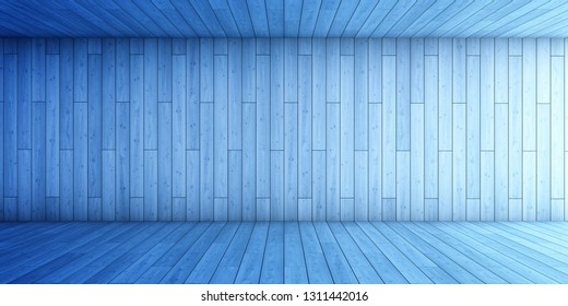 Abstract background  of blue tunnel. 3D illustration.
