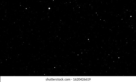 Abstract background blur white particles stars glow in black space - space particles science background