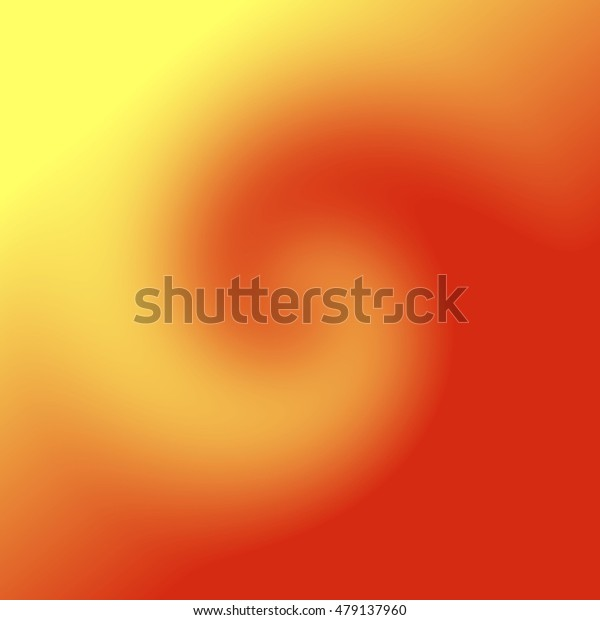 Abstract background with blurred yellow and orange rotating shape