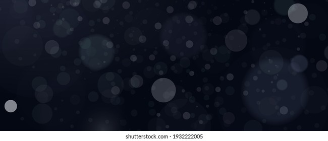 Abstract background with bokeh effect. Blur bokeh of light on black background. Light abstract glowing bokeh lights. Magic concept.