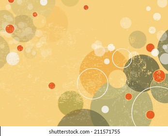 Abstract background with circles and dots - retro style