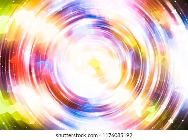 Abstract background colorful light circle. Illustration for design.