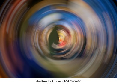 Abstract Background Of colorful Spin Circle Radial Motion Blur.