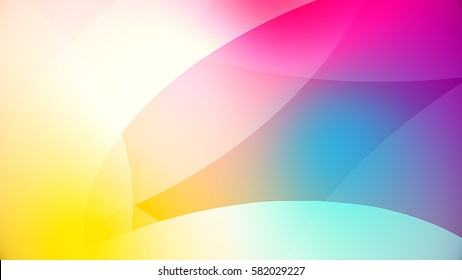 abstract background from colourful huge shapes, glassy and transparent surfaces