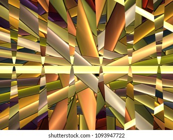 abstract background composed of fractal shapes and colors on intense color