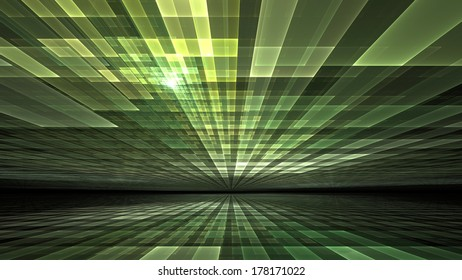 Abstract background - computer generated pattern of vibrant green light for subjects such as information technology, cyberspace and network security
