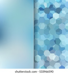 abstract background consisting of blue hexagons