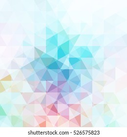 abstract background consisting of white, blue, pink triangles