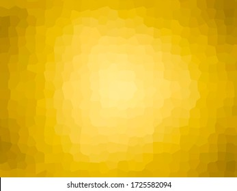 Abstract background for contemporary style decoration in rows. Polygon Mosaic Wallpaper. Blurred golden and yellow background