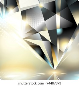 Abstract background with a crystal.