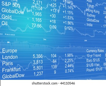 Abstract Background of Currency Data